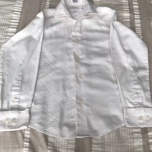 White button dress shirt